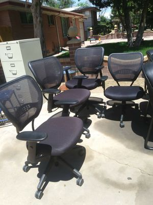 Office chairs, filing cabinet for Sale in Aurora, CO