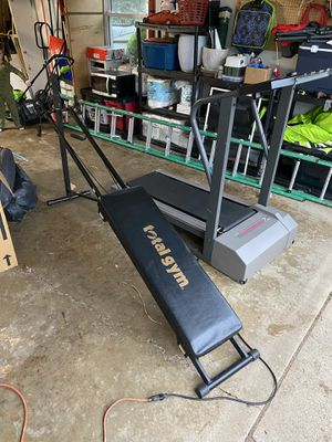 Chuck Norris Total Gym and Treadmill for Sale in Eau Claire, WI