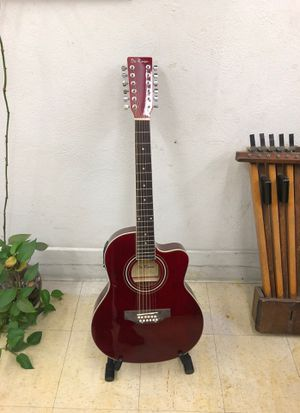 De Rosa Burgundy thin-line 12-string for Sale in San Diego, CA