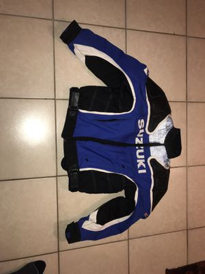 Suzuki racing motorcycle jacket for Sale in Miami, FL