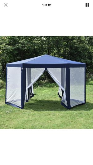 Hexagonal Patio Gazebo Outdoor Canopy Party Tent Event with Mosquito Net Blue for Sale in Sacramento, CA