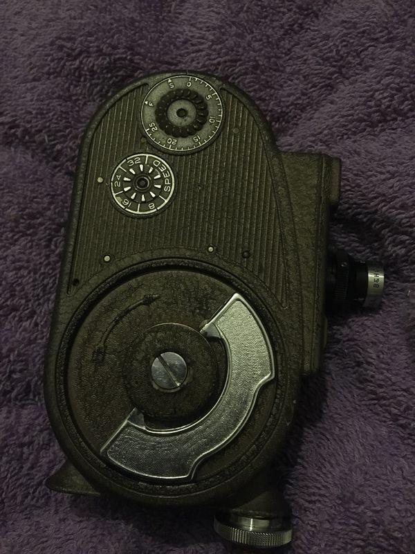 Filmo ww2 era camera w film inside