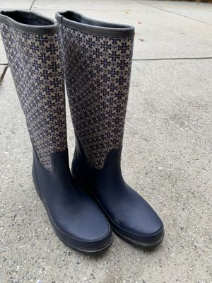 Like New Tory Burch size 10 rain boots for Sale in Marietta, GA