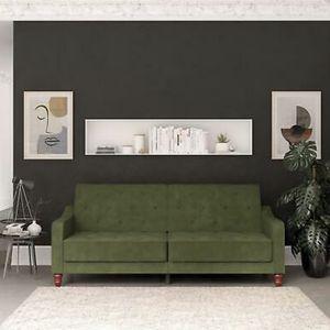Brand New Velvet Green Tufted Sofa/futon Spit Back for Sale in San Diego, CA