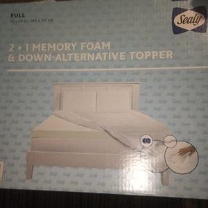 Memory Foam And Down Alternative Topper for Sale in Columbia, MD