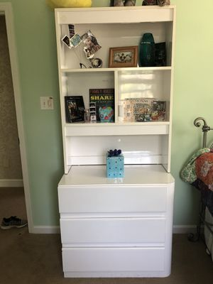 White bookcase with drawers; two nightstand/dressers for Sale in North Wales, PA