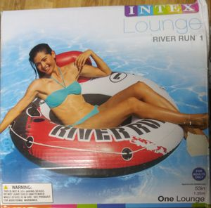NEW inflatable inner tube with backrest and cup holders for Sale in Madison, WI