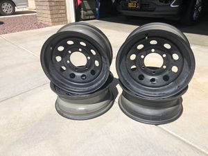 Black rims 15 x 6 for Sale in El Mirage, CA