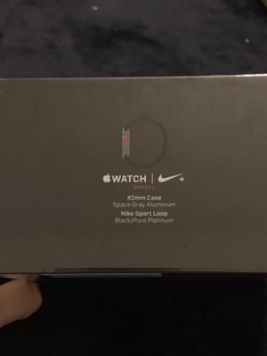 New sealed apple Watch Nike+ Series 3 (GPS + Cellular) 42mm Space Gray Aluminum Case with Black/Pure Platinum Nike Sport Loop for Sale in Doral, FL