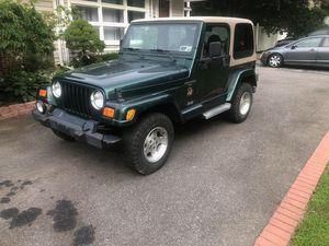 2001 jeep wrangler sahara for Sale in Lloyd Harbor, NY
