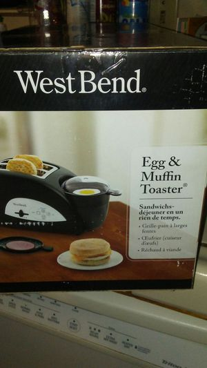 egg & muffin toaster new for Sale in Manteca, CA