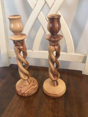 Jerusalem Olive Wood Candle Holders!! for Sale in Sandy, UT