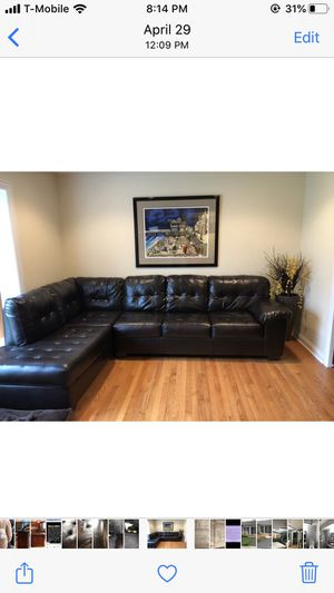 Espresso color sectional (2 piece) for Sale in Lombard, IL