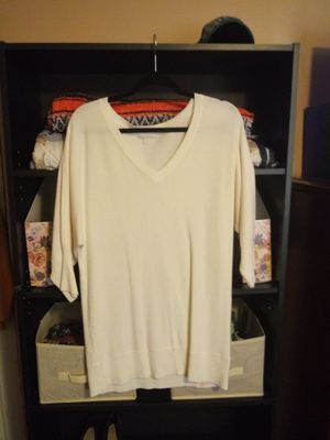 NY & Company Off White Tunic Sweater Size M for Sale in Washington, PA