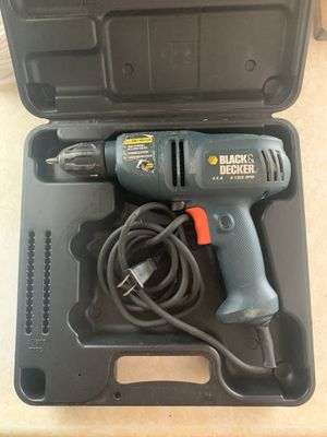 Black & Decker Drill with holding case for Sale in Oldsmar, FL