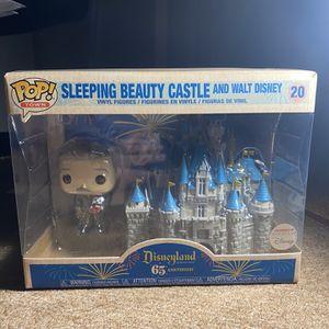 Sleeping Beauty Castle And Walt Disney Pop Figure for Sale in Whittier, CA