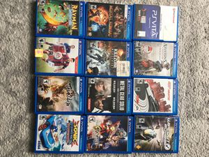 Ps Vita games just ask me for the price for the one you want for Sale in Miami, FL