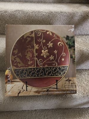 """Kirkland """"Charger Plate with Easel"""" (decor) for Sale in Springfield, VA"""