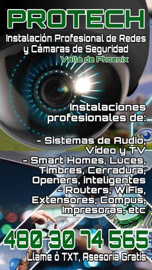 Cámaras de Seguridad, Redes y Asesoria gratis for Sale in Phoenix, AZ