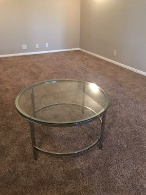 Glass coffee table, with metal frame. for Sale in Burleson, TX