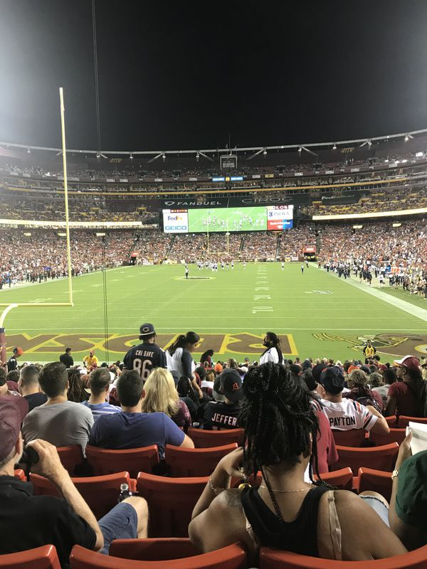 Lower Level Tickets Skins vs 49ERs