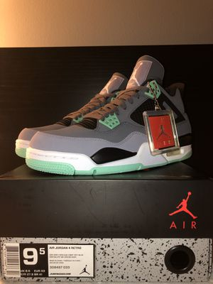 "jordan retro 4 ""green glow"" sz 9.5 for Sale in Burke, VA"