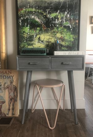 Cutest grey wood desk for Sale in Los Angeles, CA