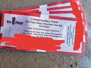 SIX FLAGS MAGIC MOUNTAIN for Sale in Los Angeles, CA
