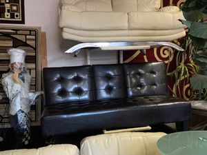 LEATHER BLACK FUTON $259 for Sale in Las Vegas, NV