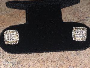 10k si diamond earrings for Sale in Laurel, MD