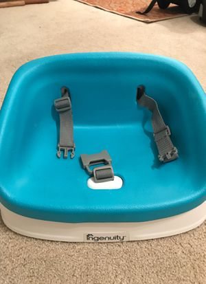 Booster seat for home/restaurants etc. NOT FOR CAR. Soft cushioned seat that is easily removed to wipe clean for Sale in Hobe Sound, FL