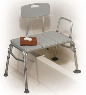 Drive Medical Plastic Transfer Bench with 3 Position Backrest, Grayish green for Sale in Las Vegas, NV