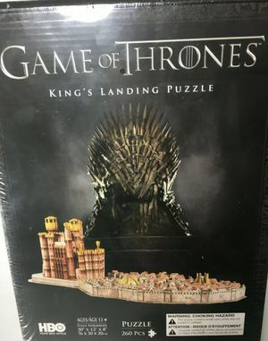 Game of Thrones King's Landing 3D Puzzle Landing Puzzle (260 Piece) New Sealed for Sale in Worcester, MA