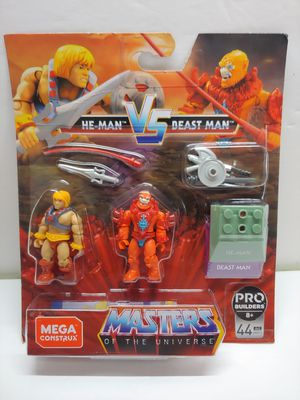 Masters of the Universe HE-MAN vs BEAST MAN MEGA Construx Heroes for Sale in Garden Grove, CA