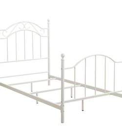 Twin Bed White Metal Frame / Mattress/ Box Spring Included for Sale in Bridgewater,  MA