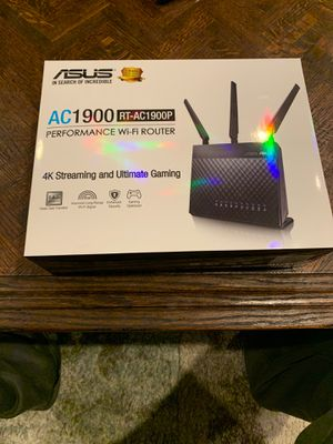 Asus AC1900p performance wi-fi Router . 4K streaming and gaming for Sale in Shelton, CT