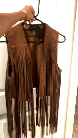Fringe vest, size S/M for Sale in Chula Vista, CA