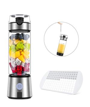 Ayyie Personal, Rechargeable Portable Juicer Cup, Multifunctional Small Blender for Shakes and Smoothies, with 15oz, Silver for Sale in Los Angeles, CA