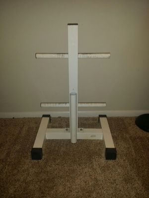 "Weider 2 tier standard weight stand with standard barbell holder. 26.5"" height, 18"" width. for Sale in Deerfield Beach, FL"