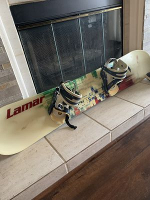 LAMAR snowboard with bindings , gear bag and boots for Sale in Las Vegas, NV