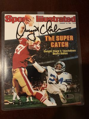 Dwight Clark autographed/signed 49ers the catch 8x10 BGS authenticated NFL Man Cave for Sale in Whittier, CA