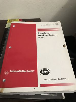 Welding code 2010 books certification questionnaire for Sale in Riverside, CA