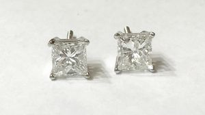 14K White Gold Unisex Stud Earrings with approx 2.06cttw Diamonds $2999.99 **Great Buy** for Sale in Tampa, FL