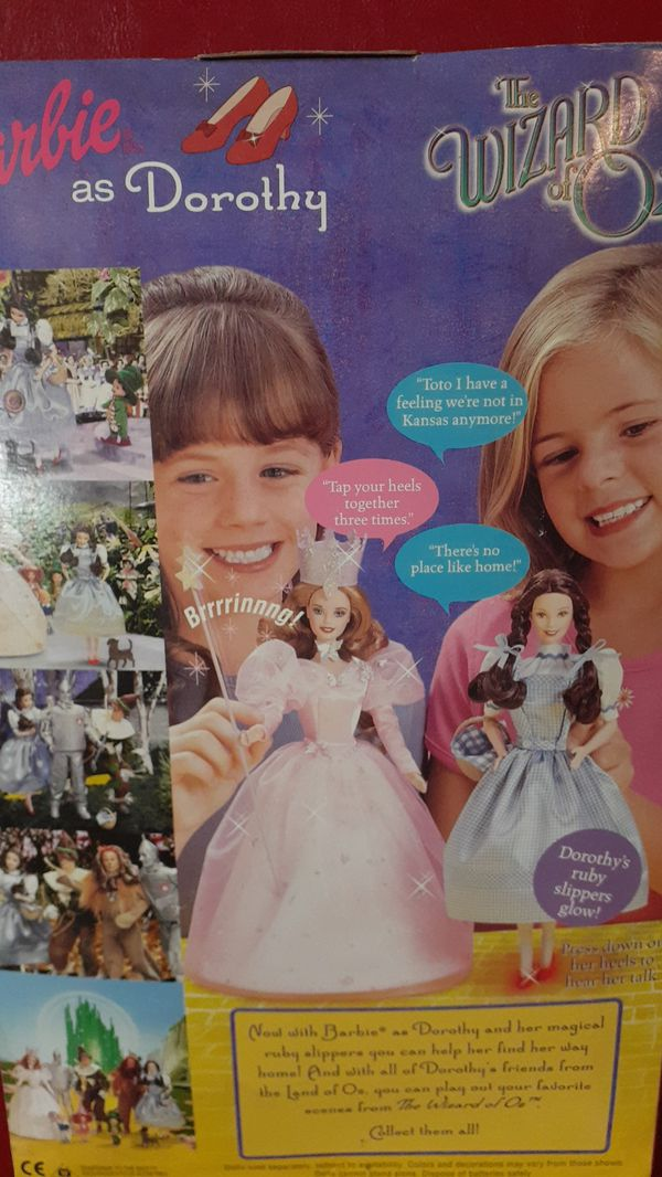NEW IN BOX BARBIE AS DOROTHY WIZARD OF OZ MATTEL