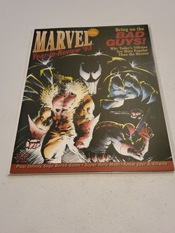 Marvel Year In Review 1993 Bring On The Bad Guys, Venom, Deadpool, Sabretooth Cover Appearance, Raw Unpressed Ungraded And Unread, Near Mint+, Rare for Sale in Fresno,  CA
