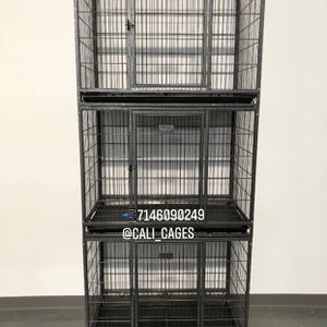 """Triple Stackable Dog Pet Cage Kennel Size 37"""" Medium New In Box 📦 for Sale in Chino, CA"""