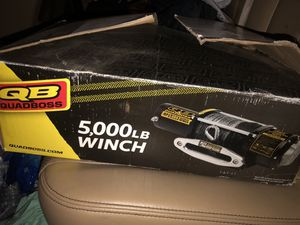 Brand new Quadboss winch 5000 synthetic rope for Sale in Baytown, TX