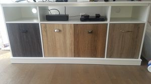 White TV stand with doors for Sale in Washington, DC