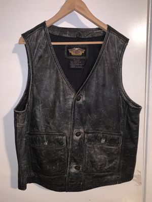 Harley Davidson (XL) Leather vest for Sale in Glendora, CA