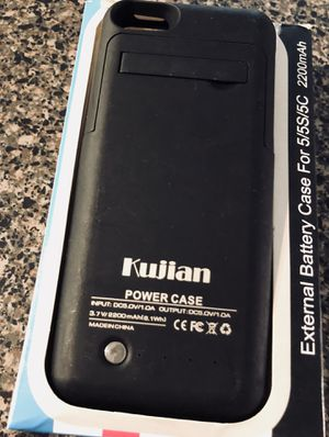 Kujian iPhone 5s Power Case for Sale in Fairfax, VA
